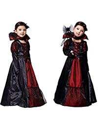 Iuhan  for 4-10Years Baby Girls Halloween Custome Kids Cosplay Princess Long Dress