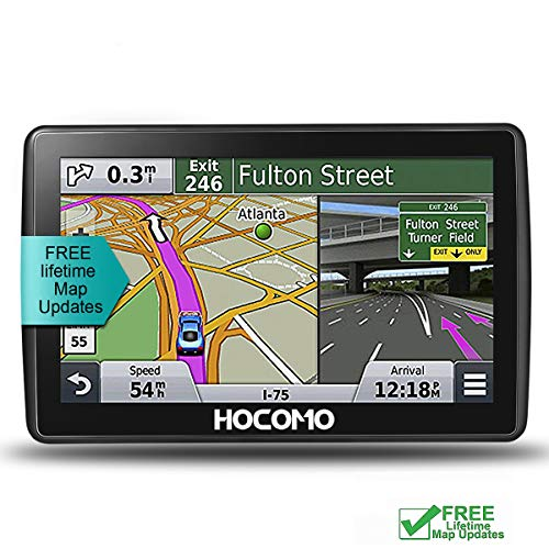 Car GPS Navigation, 7 Inch HD Touch Screen & 8G-256MB Memory, Vehicle GPS Navigator System with Free Lifetime Map Update, Real Voice Broadcast, WiFi-Connectivity, Sat-Nav - HOCOMO (7 inches)