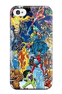 Excellent Design Marvel Phone Case For Iphone 4/4s Premium Tpu Case