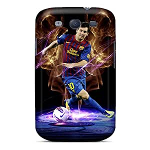 Ideal LifeLeader Case Cover For Galaxy S3(the Forward Of Barcelona Lionel Messi In Dark Background), Protective Stylish Case