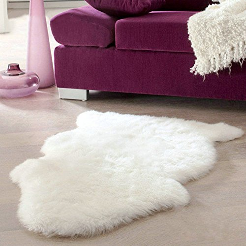 XENO-Super Soft Faux Sheepskin Chair Cover Warm Hairy Carpet Seat Pad Fluffy Rugs - Xe Com Full