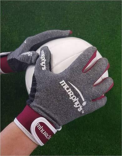 Murphy's Gaelic Gloves - Youth - Grey/Maroon - Glove Size 6 - U12 from Murphy's