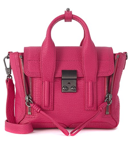 31-phillip-lim-womens-31-phillip-lim-pashli-mini-satchel-fuchsia-tumbled-leather-pink