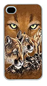 Falling Stars Wolf PC Silicone Case Cover for iphone 6 4.7inch White