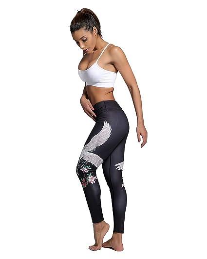 3526baf2336c3 Amazon.com: DLSLM Special Design Dance Women Yoga Pants Printed Fitness  Buttery Soft Workout Leggings Sun and Moon XXXL (Color : Crane, Size : XL):  Home & ...