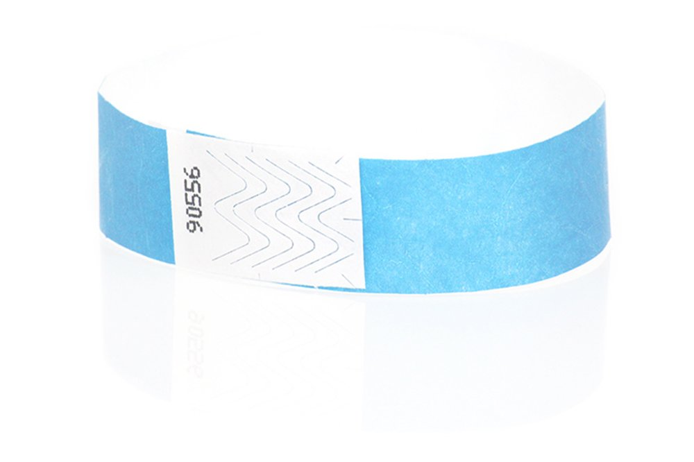 Wristband Giant 3/4 Tyvek Wristbands 500 box Event Identification Bands (Yellow Glow)