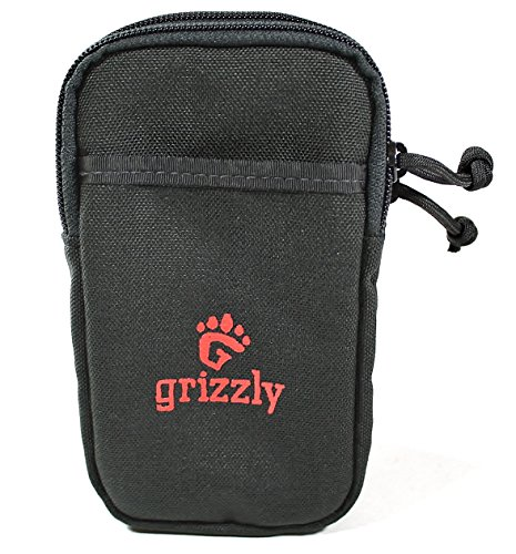 Grizzly Huron- Cell Phone CASE Two Zippered Pockets Well Padded, Tough, Sturdy, Heavy Duty Stitching Holds iPhone Samsung, Sony, BlackBerry, Nokia. Strong Back Straps for Waist Belt Backpack Gear Bag ()