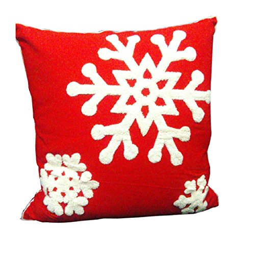 Ikevan Snowflower Towel Cotton Cloth Embroidery Pillow Case Sofa Waist Throw Cushion Cover Home Decor(18