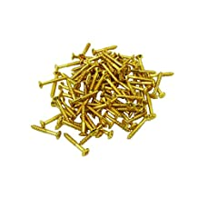 Musiclily Humbucker Pickup Frame Ring Mounting Screws for Fender Strat Tele Les Paul SG Guitar Bass Replacement, Gold (Pack of 20)