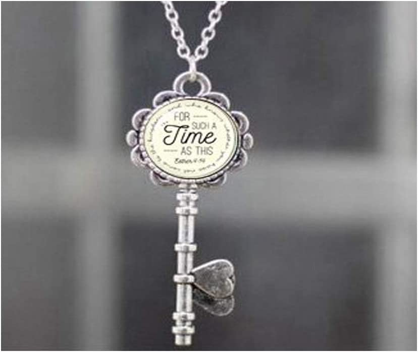 Huangwiglass Born for Such a Time as This Esther 4:14 Pendant Necklace