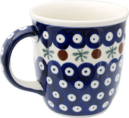 Polish Pottery Mug 12 Oz. From Zaklady Ceramiczne Boleslawiec 1105-41 Nature Pattern, Capacity: 12 Oz. ()
