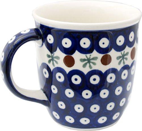 Polish Pottery Mug 12 Oz. From Zaklady Ceramiczne Boleslawiec 1105-41 Nature Pattern, Capacity: 12 Oz. (Beautiful Mugs Pottery)