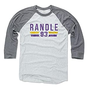 500 LEVEL's John Randle Baseball Shirt - Vintage Minnesota Football Fan Gear - John Randle Font