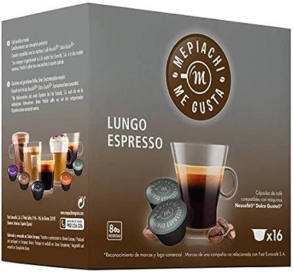 Lungo Espresso Mepiachi 16 Cápsulas Compatibles Dolce Gusto Amazon Es Hogar