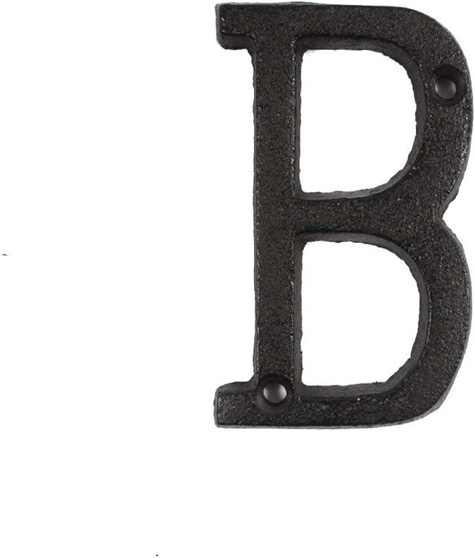 decoraci/ón de casa ieenay Letras de Metal n/úmeros de Hierro Fundido DIY Cafe Pared Negro Cartel para Puerta