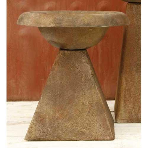 OrlandiStatuary FS8401 Modern Birdbath Sculpture, 17″, Sandstone Finish For Sale
