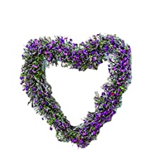 "CWI Gifts F20011 8"" X 8""X 2"" Lavender Twig Heart Wreath"