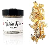 Diva Riot: Midas Kiss Gold Leaf Flakes. Loose cosmetic gold leaf glitter makeup for eyes, face, body, and hair