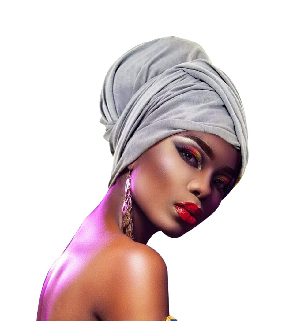 1 KELAND Femmes Africaine Tête Wrap Extra Long 63x32 Bandeaux foulard Turban cravate Africaine