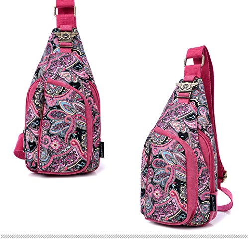 Pink Pattern Small Pack Paisley Back Women Zzfab 6YOqw