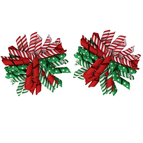 juDanzy Holiday Hair Clips & Bows in Easter, Valentines, Thanksgiving & Christmas themes for baby, toddler & Girls (Christmas Korker (2 -