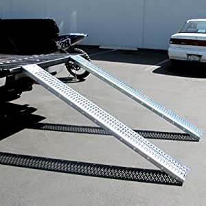 ATV Load Ramps ATV Truck Ramps Quad Ramp Lawn Mower All Purpose Ramps with Leveling Plates