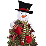 Christmas Tree Topper, Snowman Top of The Tree Hugger Xmas Holiday Winter Wonderland Party Decoration
