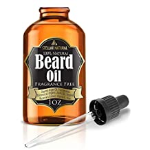 Beard Oil Moisturizer and Conditioner by Stellar Naturals Offers Best Blend of Botanic Oils with Vitamin E and Aloe, 100% Natural Unscented for Groomed Beard Growth, Mustache and Skin Care - 1 Oz