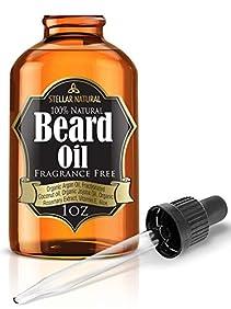 Stellar Naturals Unscented Beard Oil Moisturizer and Conditioner - 1 fl oz