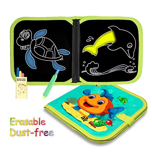 SLHFPX Birthday Gift for 2-6 Years Old Girl,Paiting Toy Drawing Doodle Board Book with Reuse Erasable for 2-6 Years Old Kids Toys for 2-6 Yrs Old Girl Birthday Gift for Little Girl