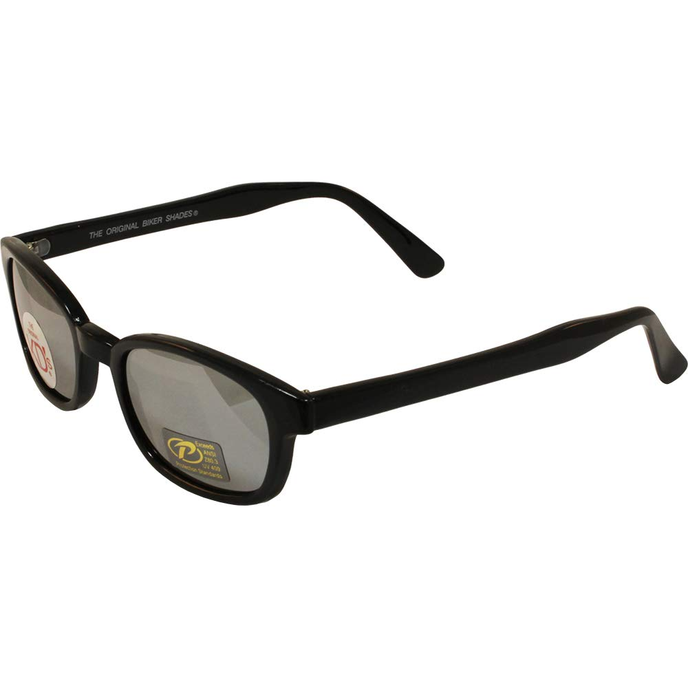 X-KD's Unisex-Adult Biker sunglasses (Silver/Smoked, One Size)