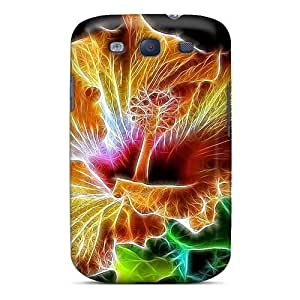 Hot TTj6854hWLU Case Cover Protector For Galaxy S3- Hibiscus Beauty