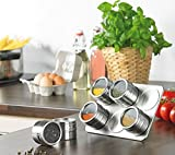 Deluxe 6pc Magnetic Spice Rack Holder Organizer