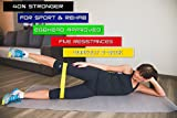Resistance Bands for Exercise & Fitness - Physical Therapy Equipment by Sport2People – Elastic Booty Band Set for Legs & Strength Training – Best Stretch Loops from Natural Latex