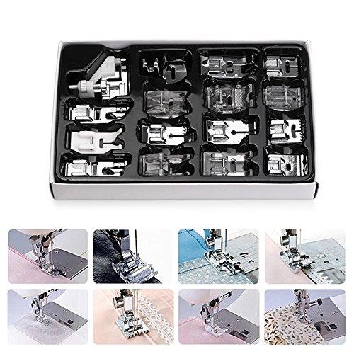 Kit de prensatelas para máquina de coser, piezas de repuesto y accesorios para máquinas Brother o Singer (Set de 16 Piezas): Amazon.es: Hogar