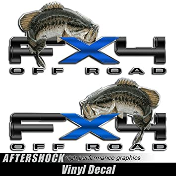 4x4 Offroad Decal Set METALLIC SILVER Ford F150 Super Duty Ranger Deer Hunting