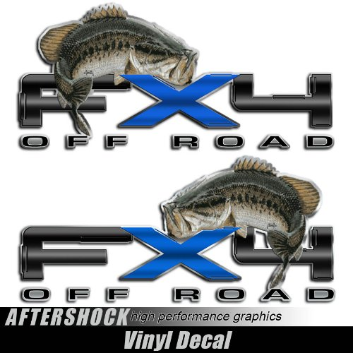 (Bass Fishing Decal FX4 Truck Sticker for F150)