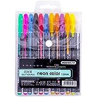 12-Pieces XLStore Color Glitter Gel Pen Set