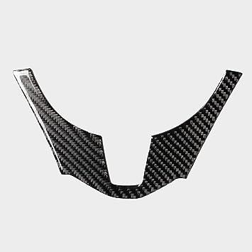 Carbon Fiber Style Steering Wheel Button Cover Trim For MAZDA 3 Axela 2014-2016