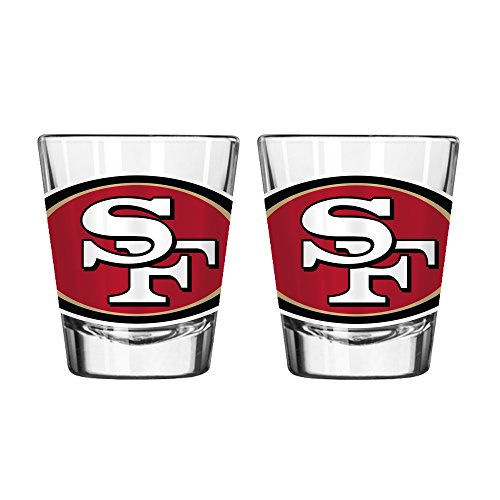(Boelter Brands NFL San Francisco 49ers Spirit Shot Glass, 2-Ounce, 2-Pack)