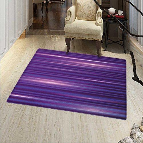 Indigo Area Rug Carpet Stripe Like Horizontal Lines Modern Minimalist s s Inspired Design Living Dinning Room Bedroom Rugs 3'x4' Magenta Purple White