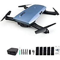 JJRC H47 Elfie WIFI Foldable Pocket FPV Drone 5 Batteries Mini Quadcopter with 720P Camera(Blue, with 5 Batteries)