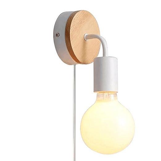 Fsliving Loft Vintage Wooden Base Metal Wall Lights Ce Listed Lamp Custom 1 Bedroom Loft Minimalist Collection