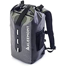 RollTop Waterproof Backpack Dry Bag - Padded Shoulder Straps and Splash Proof Cell Phone Pocket for Kayaking, Boating, Hiking, Cycling, Camping, Fishing, Rafting and All Outdoor & Wate