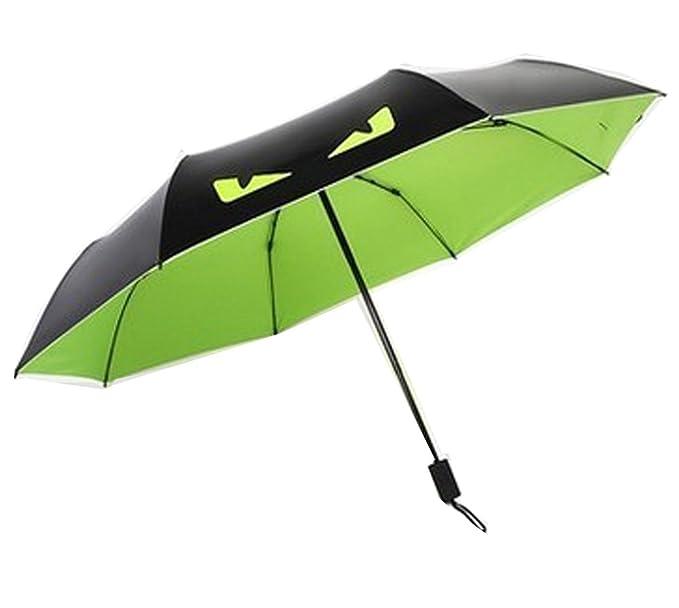 Amazon.com: Plegable (compacta, Triple paraguas sombrilla ...