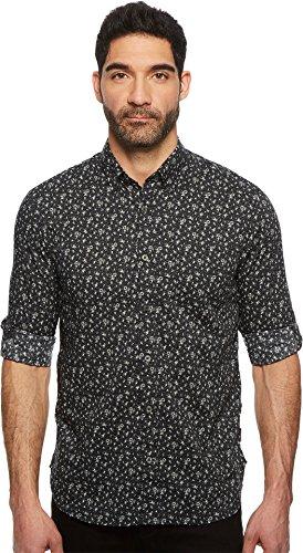 John Varvatos Star U.S.A. Men's Button Down Long Sleeve Roll-Up w/Single Pocket W530U1B Charcoal Medium by John Varvatos Star USA