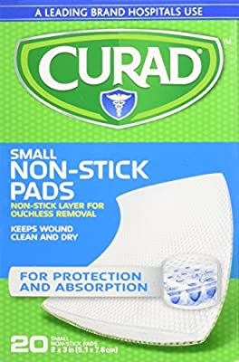 Curad Small Non-Stick Pads 2 x 3 in 20 ea