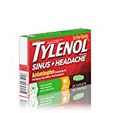 Tylenol Sinus + Headache Non-Drowsy Daytime Caplets with Acetaminophen & Phenylephrine HCl, 24 ct