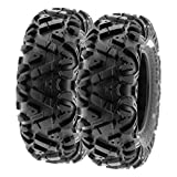 SunF 26x8-12 26x8x12 ATV UTV A/T Replacement Race 6 PR Tubeless Tires A033 POWER I, [Set of 2]
