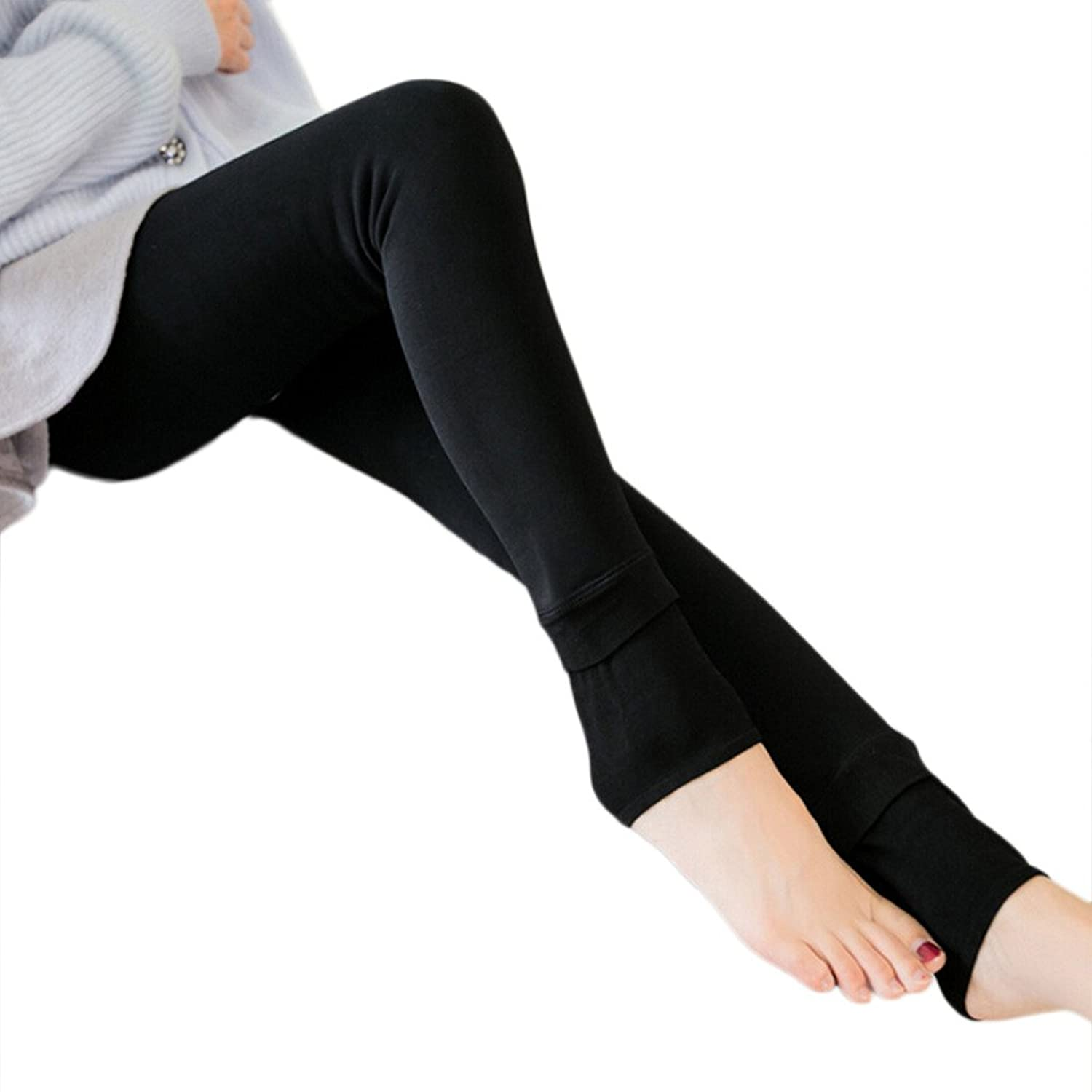 Warm winter fleece leggings
